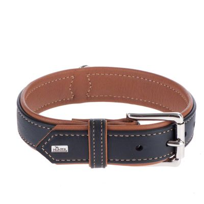 Hunter Canadian Dog Collar - Black / Cognac