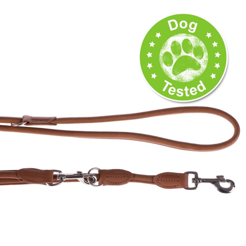 Hunter Round & Soft Dog Lead - Cognac