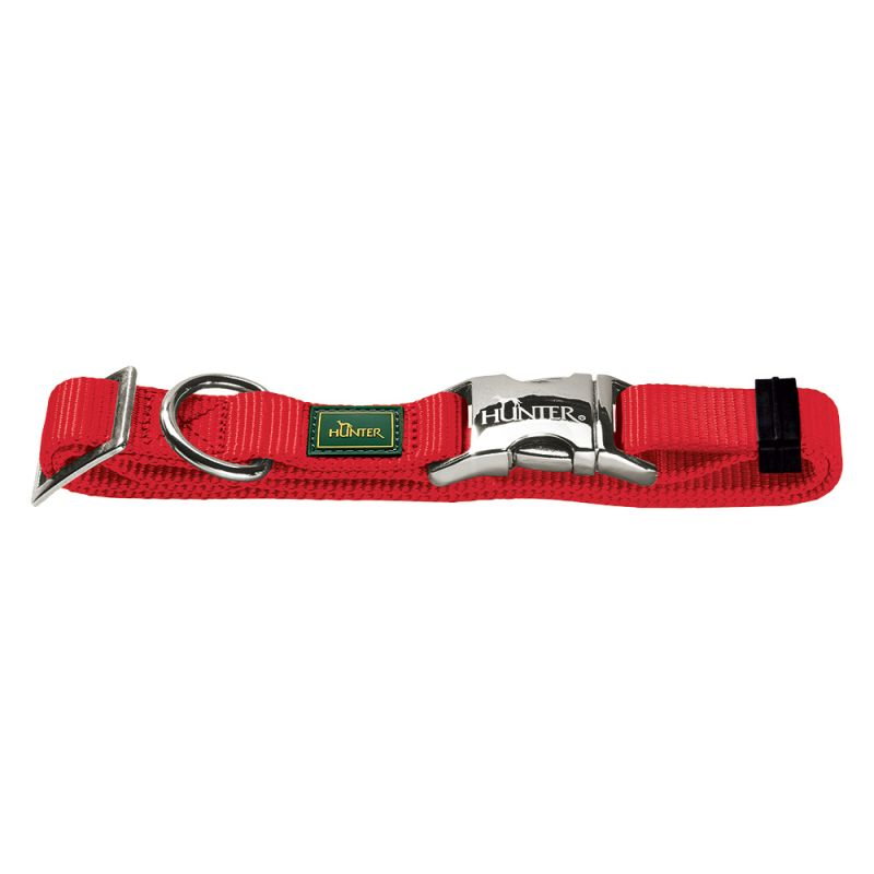 Hunter Vario Basic Alu-Strong Dog Collar - Red