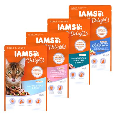 IAMS Delights Adult in Salsa 12 x 85 g