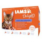 IAMS Delights Adult Land & Sea Kattenvoer 24 x 85 g