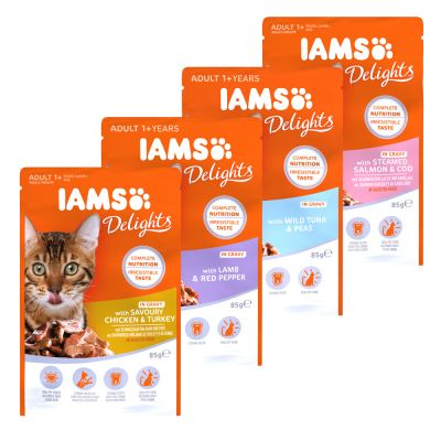 Iams Delights Wet Cat Food Multibuy 96 X 85g At Great