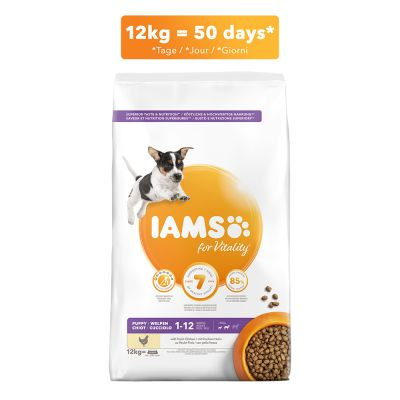 IAMS for Vitality Puppy & Junior Small Medium poulet pour chiot