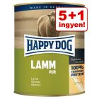 5+1 ingyen! Happy Dog Pur 6 x 800 g
