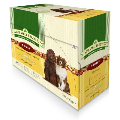 James Wellbeloved Adult Pouches - Lamb with Rice