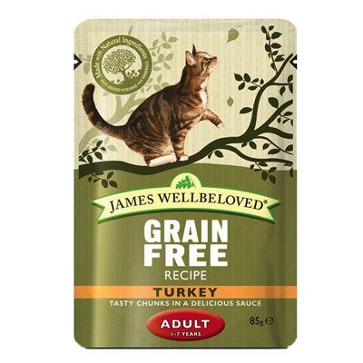 James Wellbeloved Adult Cat Pouches Turkey Great Deals