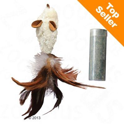 134ffa6cf9e3dc KONG Feather Mouse avec menthe à chat - Jouet pour chat - zooplus