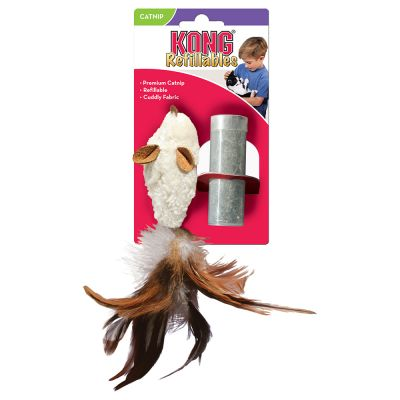 f05ae7d3b66154 Jouet pour chat Kong Feather Mouse avec menthe à chat   zooplus.be