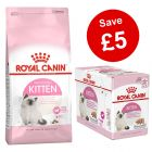 4kg / 10kg Royal Canin Kitten Dry Food + Wet Food - Save £5!*