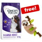 12kg Concept for Life Dry Dog Food + Sloth Dog Toy Free!*
