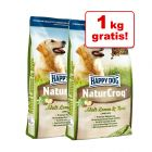 1 kg + 1 kg på köpet! 2 kg Happy Dog NaturCroq