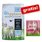 6/7,5 kg Applaws + Przysmak Feringa Sticks, 6 x 6 g gratis!