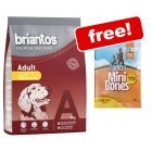 3kg Briantos Dry Dog Food + Barkoo Mini Bones Poultry Free!*