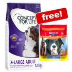 12kg Concept for Life Dry Dog Food + 120g Rocco Beef Chings Free!*