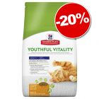 6 kg croquettes Hill's Science Plan Youthful Vitality 7+ : 20 % de remise !