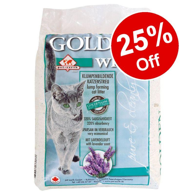 14kg Golden White Cat Litter - 25% Off!*