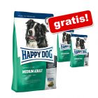 2 kg gratis! Großgebinde Happy Dog Supreme