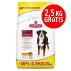 12 + 2,5 kg gratis Hill's Science Plan Hundefutter