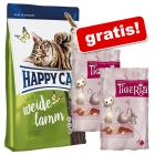 10 kg Happy Cat Droogvoer + 2 x 35 g Tigeria 7 snacks