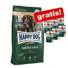 10 kg Happy Dog Supreme Sensible Montana + 6 x 400 g Pferd pur gratis!