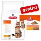 10 kg Hill's Adult 1-6 Optimal Care - Kip + 12 x 85 g maaltijdzakjes gratis!