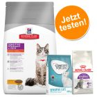 1,5 kg Hill's Feline Adult Sensitive Stomach & Skin und 400 g Concept for Life und Royal Canin
