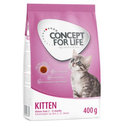 2 kg Hill´s Feline Kitten Thunfisch + 400 g Concept for Life und Royal Canin