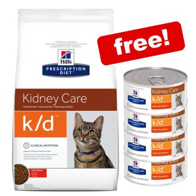 5kg Hill's Prescription Diet Feline k/d Kidney Care + 4 x 156g Cans Free!*