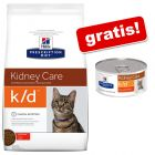5 kg Hill's Prescription Diet k/d mit Huhn + 4 x 156 g Nassfutter gratis!