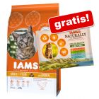 2,55 / 3 kg IAMS torrfoder + 4 x 85 g IAMS Naturally Cat Adult Mix på köpet!