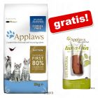 2 kg/1,8 kg Applaws + Applaws Cat, polędwica z tuńczyka, 30 g gratis!