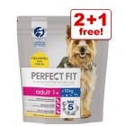 1.4kg Perfect Fit Small Dogs Dry Dog Food - 2 + 1 Free!*