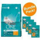 6kg Purina ONE Dry Cat Food + 4 x 85g Purina Pouches - Special Bundle!*