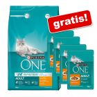 3 kg Purina ONE Trockenfutter + 4 x 85 g Purina ONE gratis!