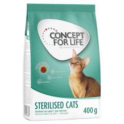 2 kg Royal Canin Sterilised + 400 g Concept for Life + 300 g Hills