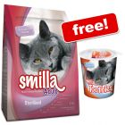 4kg Smilla Dry Cat Food + 125g Smilla Toothies Free!*