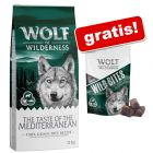 12 kg Wolf of Wilderness + 180 g Bocconi snack gratis!