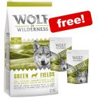 12kg Wolf of Wilderness Dry Dog Food + 2 x 180g Wild Bites Snacks Free!*