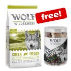 12kg Wolf of Wilderness Dry Dog Food + 150g RAW Freeze-dried Snacks Free!*