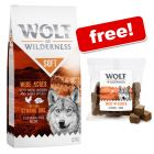 12kg Wolf of Wilderness Dry Dog Food + Premium Dog Snacks Free!*