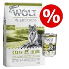 5kg Wolf of Wilderness Senior Dry + 6 x 400g Wet Dog Food - Bundle Price!