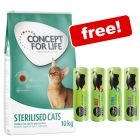 9kg/10kg Concept for Life Cat Food + Cosma Snackies Free!*