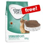 9kg/10kg Concept for Life Dry Cat Food + Relax Scratch Bed Free!*