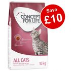 9kg/10kg Concept for Life Dry Cat Food - Save £10!*
