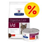 Kombipack: Hill's i/d Digestive Care Prescription Diet Feline - på burk