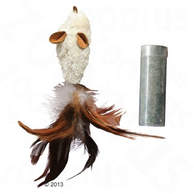 KONG Feather Mouse mit Katzenminze