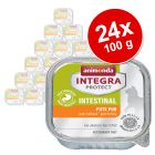 Økonomipakke: 24 x 100 g Integra Protect Adult Intestinal i bakke