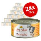 Økonomipakke: 24 x 70 g Almo Nature HFC Alternative