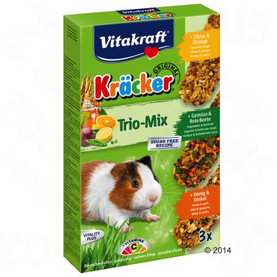 Krackers Vitakraft Trio-Mix, cochon d'Inde