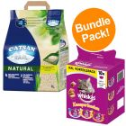 8l Catsan Natural Cat Litter + 18x72g Whiskas Temptations - Bundle Price!*
